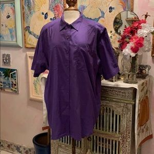 Royal Purple blouse 100%Cotton size 22/24